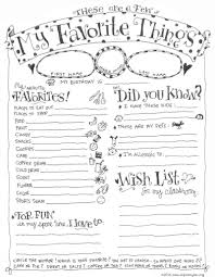 Teacher Favorite Things Questionnaire Printable Bloggers Best