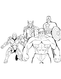 These marvel avengers coloring books will provide many hours of fun with games, puzzles, mazes and coloring activities. Avengers Coloring Pages For Kids Coloring Home