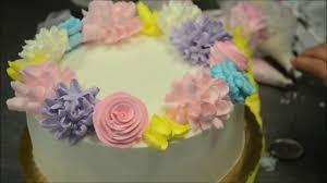 Amazing Flower Design Birthday Cake Youtube
