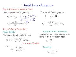small loop antenna step 3 electric and magnetic fields