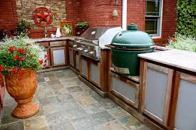 Modular Outdoor Kitchen Frames Big Green Egg Built Into Outdoor Kitchen Outofhome
