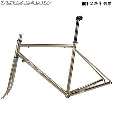 Signup for our newsletter to get direct notified about sales,promotion code and new products. Tsunami Tsunami Speed Nami V01 Road Bike Frame Ultra Light Steel Frame Brushed Silver With Carbon Front Fork Shopee Singapore