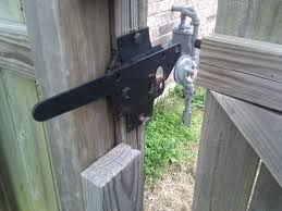 wood fence gate hardware work