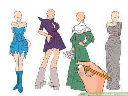 anime girl clothes designs. Simple Girl Image Titled Draw Anime Girlu0027s Clothing Step 6 For Girl Clothes Designs O