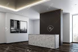 Contemporary office reception Pinterest Side View Of Contemporary Office Waiting Area With Reception Desk And City View Mock Up 123rfcom Side View Of Contemporary Office Waiting Area With Reception Stock