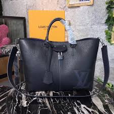 3a lv handbag m54778 louis vuitton pernelle black real leather bag
