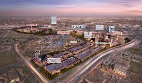 courtesy urban office. an aerial view of legacy west in plano texas highlighting some the companies courtesy urban office
