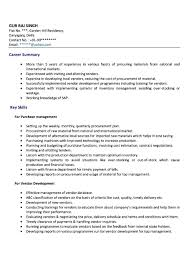 Purchase Executive Resume Samples Free Samples Examples