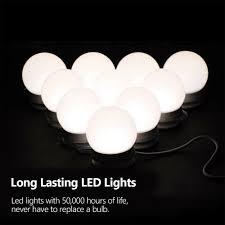 Light Bulb Levels Led Makeup Mirror Vanity Lamp Light Bulbs Kit 3 Levels Brightness Adjustable Us