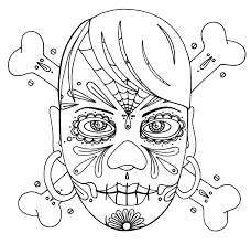 Yucca Flats Nm Wenchkin039s Coloring Pages Girly Skull Skull