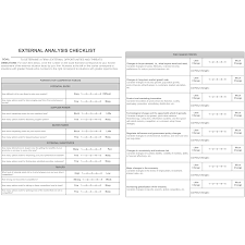 check list example external analysis checklist