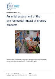 An initial assessment of the environmental impact of grocery ...