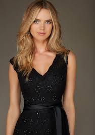 Elegant Long Beaded Lace Morilee Bridesmaid Dress Style 126