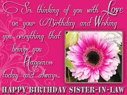 Birthday Quotes For Sister In Law 5 Funpro