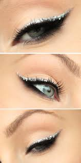 add glitter to your wedding cat eye makeup