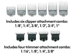 Wahl Clipper Guard Sizes Chart 42 Studious Dog Clipper Blade Chart