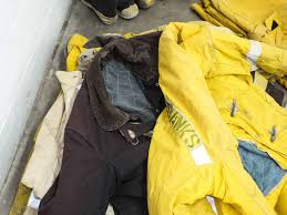 Globe Turnout Gear Lot Of Worn Firefighting Rescue Pants Jackets Boots And Helmets