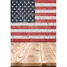 2019 digital printed american flag brick wall photography backdrop vinyl fabric kids children photo studio backgrounds wood planks floor from