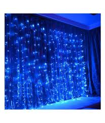 Led Water Lights Ever Forever Water Fall Mode Led Curtain String Lights Blue Decorative Light For Valentine Wedding