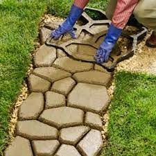 yard elements concrete stepping stone