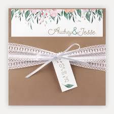 Envelope Wedding Rustic Wedding Invitation White Lace Camel Envelope Watercolour