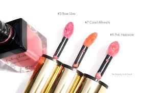 YSL Babydoll Kiss and Blush - Rose Libre #3, Corail Affranchi #7 and ...