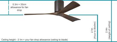 ceiling fan ing guide ceiling height and fan drop