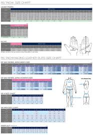 Rst Race Suit Size Chart Size Chart Rs Taichi