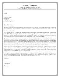 Cover Letter New Sample Job Application Letter For Teaching Cover