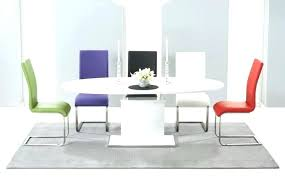 dining table sets white oval and round high gloss dining table sets white extending 6 chairs