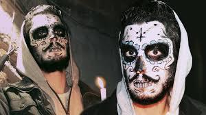 sugar skull for bearded guys face painting