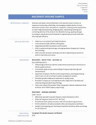 Cnc Machine Operator Resume Sample Fresh Free Sample Resume For Cnc