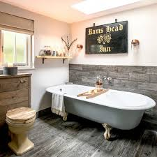country bathroom ideas. Country Bathroom With Reclaimed Wood Panelling Ideas L