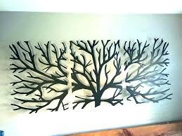 large wall art metal gular extra tree simple arts candle black big round