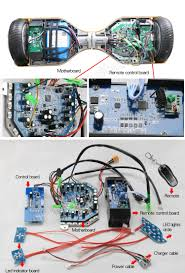 taotao pcb hoverboard skateboard bluetooth scooter control board swagtron t5 troubleshooting at Hoverboard Wiring Diagram