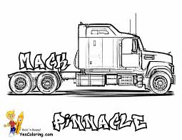 Small Picture Big Rig Truck Coloring Pages Free 18 Wheeler Boys Coloring