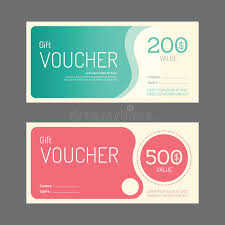 coupon design vector gift voucher coupon template design paper label frame stock