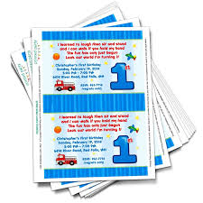 Printable 1st Birthday Invitations Template Printed Party