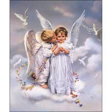 digital oil painting angel