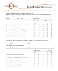 Sample Questionare Free 30 Questionnaire Examples In Pdf Google Docs Word