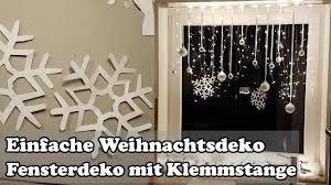 Diy Fenster Weihnachtsdeko Mit Gardinenstange Christmas