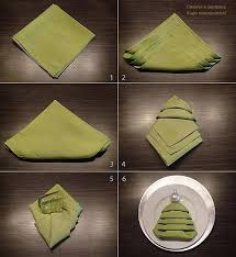 Christmas Tree Napkin Folding Tutorial Pictures, Photos, and ...