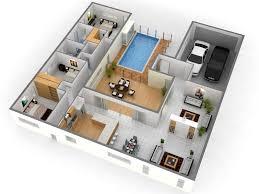 Home Plan 3d Design Lofty Inspiration 13 Single Floor Home Design Plans 3d 3  Bedroom House