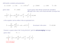 the root function in mathcad the van der waals equation