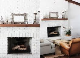 white brick mantel fireplace project