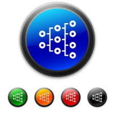 Round Buttons With Icon Of Organization Chart Free Image