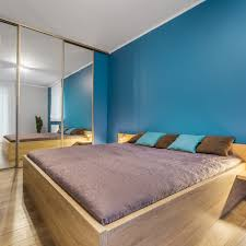 have more circulation space in the room having mirrored sliding shutters not only multiplies the space visually but also does away with the need for a