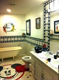 mickey mouse area rug disney bathroom ideas disney bathroom decorating ideas