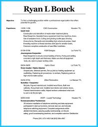 Carpenter Resume Examples Best Of Carpenter Resume Gallery Example