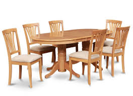Oval Kitchen Table Sets Oval Dining Room Table With 6 Chairs Oak 7 Pc Dining Room Set With